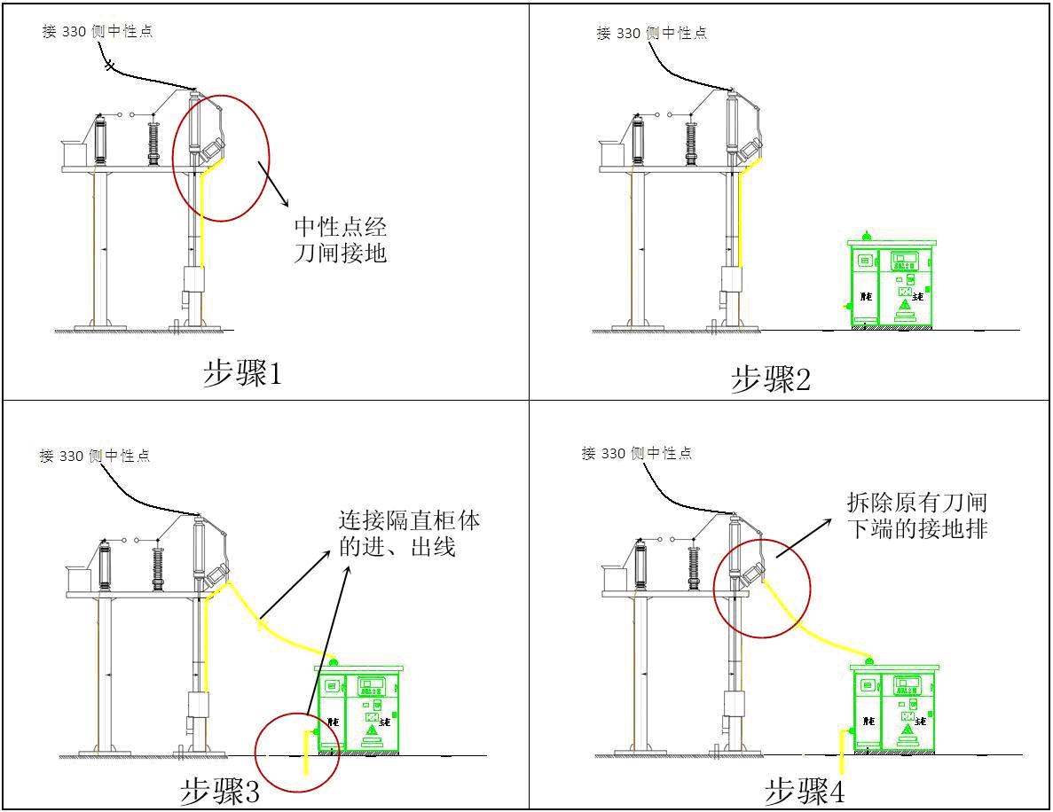 电容型变压器直流偏磁隔离接地装置(简称隔直装置)图